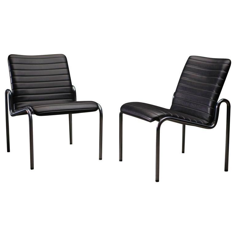Naugahyde Easy Chairs 703 by Kho Liang Ie