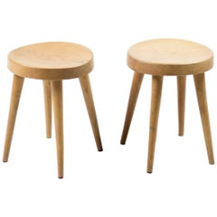 Pair of Four-Leg Stools by Charlotte Perriand for Steph Simon