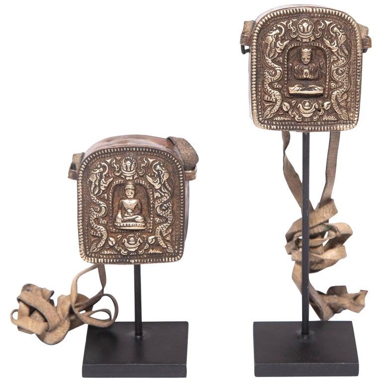 Pair of Early 20th Century Miniature Tibetan Traveling Shrines