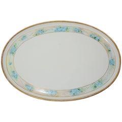 Moritz Zdekauer Hand-Painted Oval Porcelain Platter, 1914, Austria Artist Signed