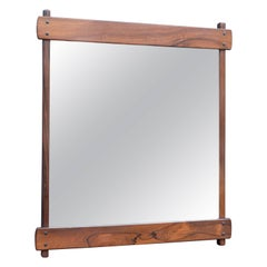 Sergio Rodrigues Rosewood Wall Mirror