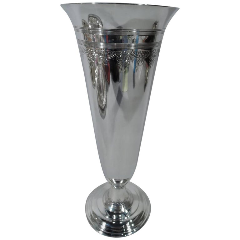 Tiffany Modern Classical Sterling Silver Vase