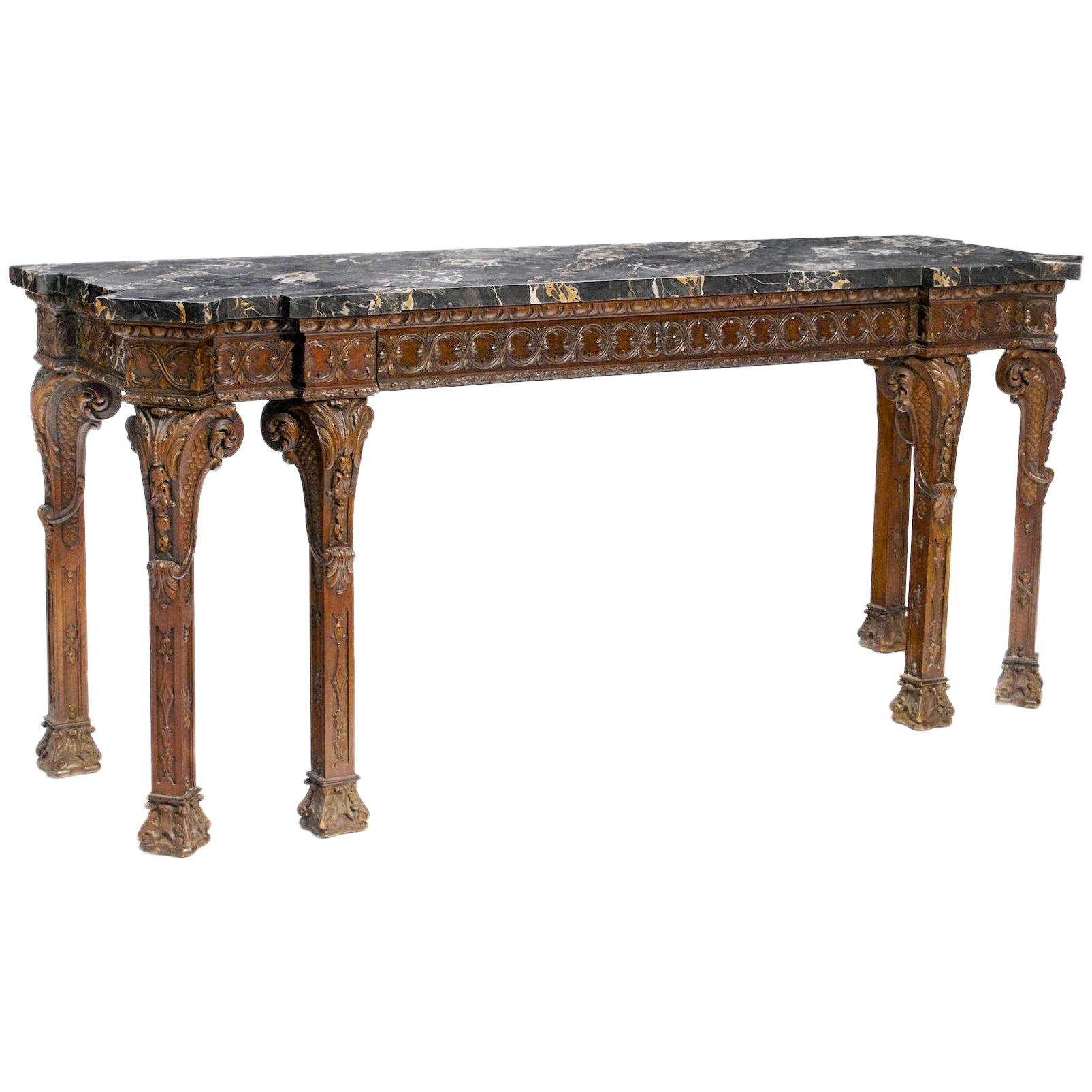 George III Style Carved Console, 19th Century
