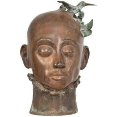 Surrealist Bronze Sculpture, Mexico, 1960s