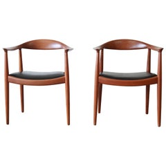 "Hans Wegner for Johannes Hansen ""The Chair"", Pair"
