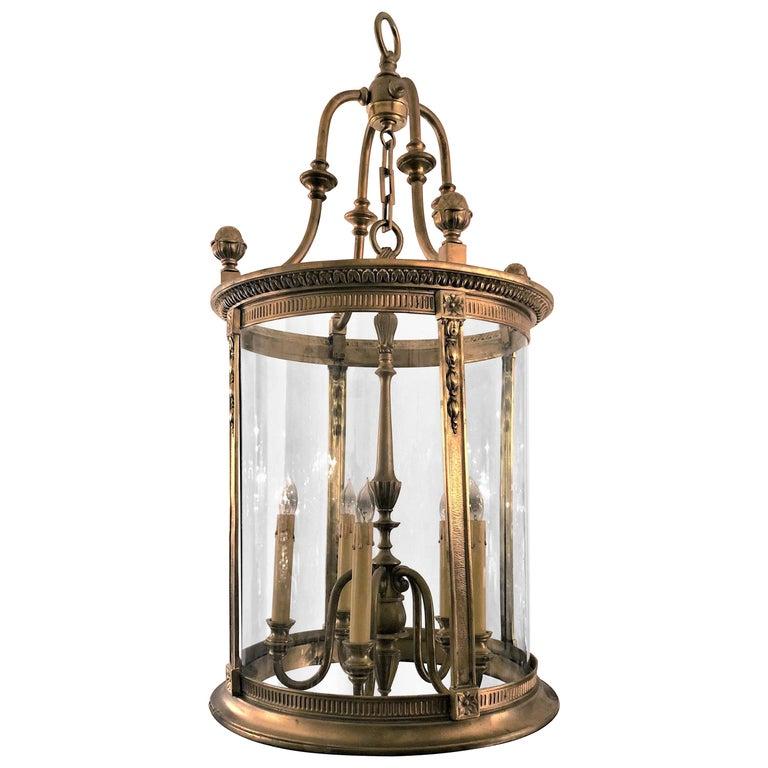 Antique Late 19th Century Bronze Doré Lantern