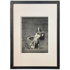 "Rockwell Kent ""Beowulf and Grendel's Mother"", 1931, Metal Frame"