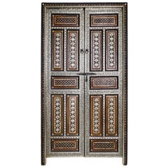 Moroccan Panelled Double Doors
