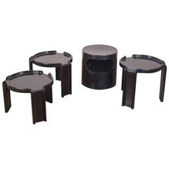 Black Acrylic Kartell Stacking Tables