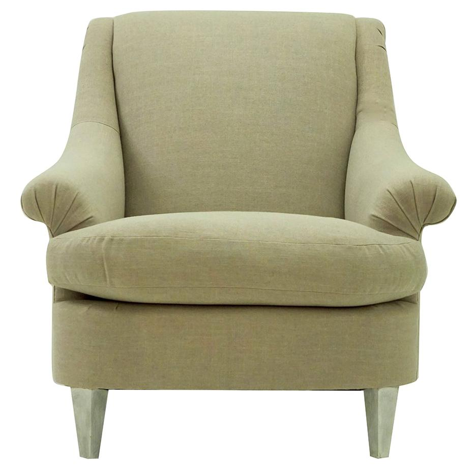 Rolled Arm Upholstered Club Chair