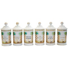 19th Century Palm Tree Pharmacy Jars