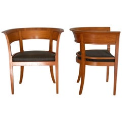 Kaare Klint, Rare Armchairs with Back Wood Panels, 1916