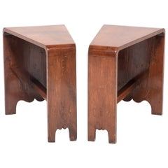 Pair of Chinese Asymmetrical Low Tables