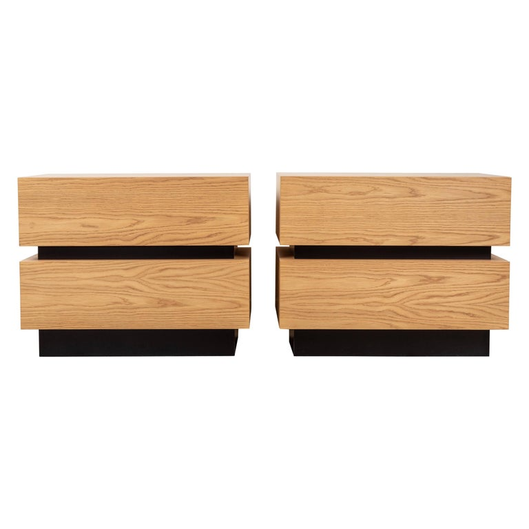 Pair of Large Stacked Box Nightstands by Lawson-Fenning