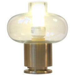 Scandinavian Modern Table Lamp in Brass and Glass from Fog & Mørup, 1970s