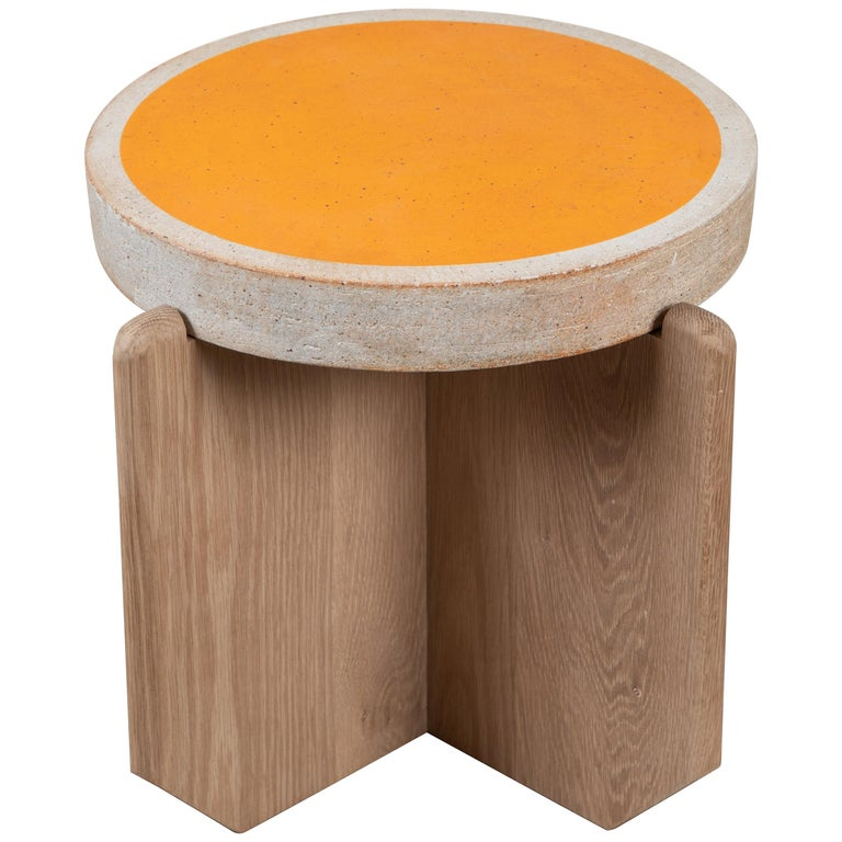 Collabs in Clay Side Table by MQuan Studio for Lawson-Fenning