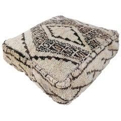 Moroccan Pouf Beni Ourain Floor Cushion Morocco Ottoman