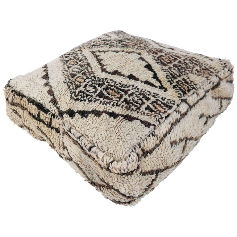 Moroccan Pouf Beni Ourain Floor Cushion Morocco Ottoman For Sale At Inspiration Moroccan Poufs For Sale