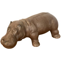 Italian Midcentury Pottery Hippo
