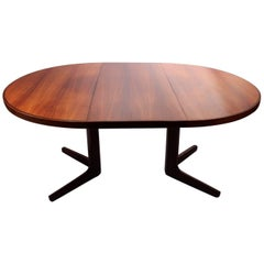 Round Dining Table, Rosewood, Vejle Furniture Factory, 1960s