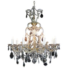 20th Century Italian Crystal Chandelier Maria Theresa Nine-light Pendant