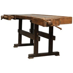 Oak Carpenters Worktable, circa 1900