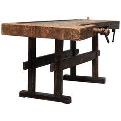 Oak Carpenters Worktable, circa 1900