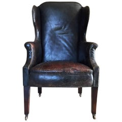 Early 20th Century Leather Wingchair
