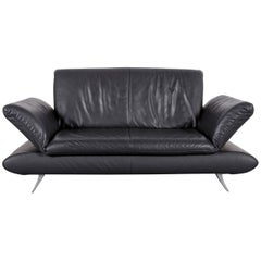 Koinor Rossini Designer Leather Sofa in Grey with Functions Two-Seat