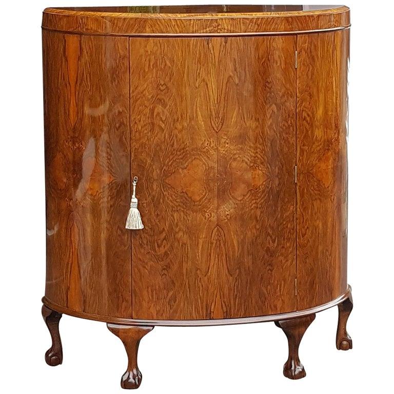 1920s Burr Walnut Cocktail Cabinet