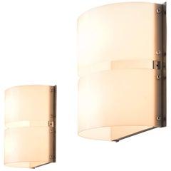 Pair of Chromed Minilumi Wall Lights