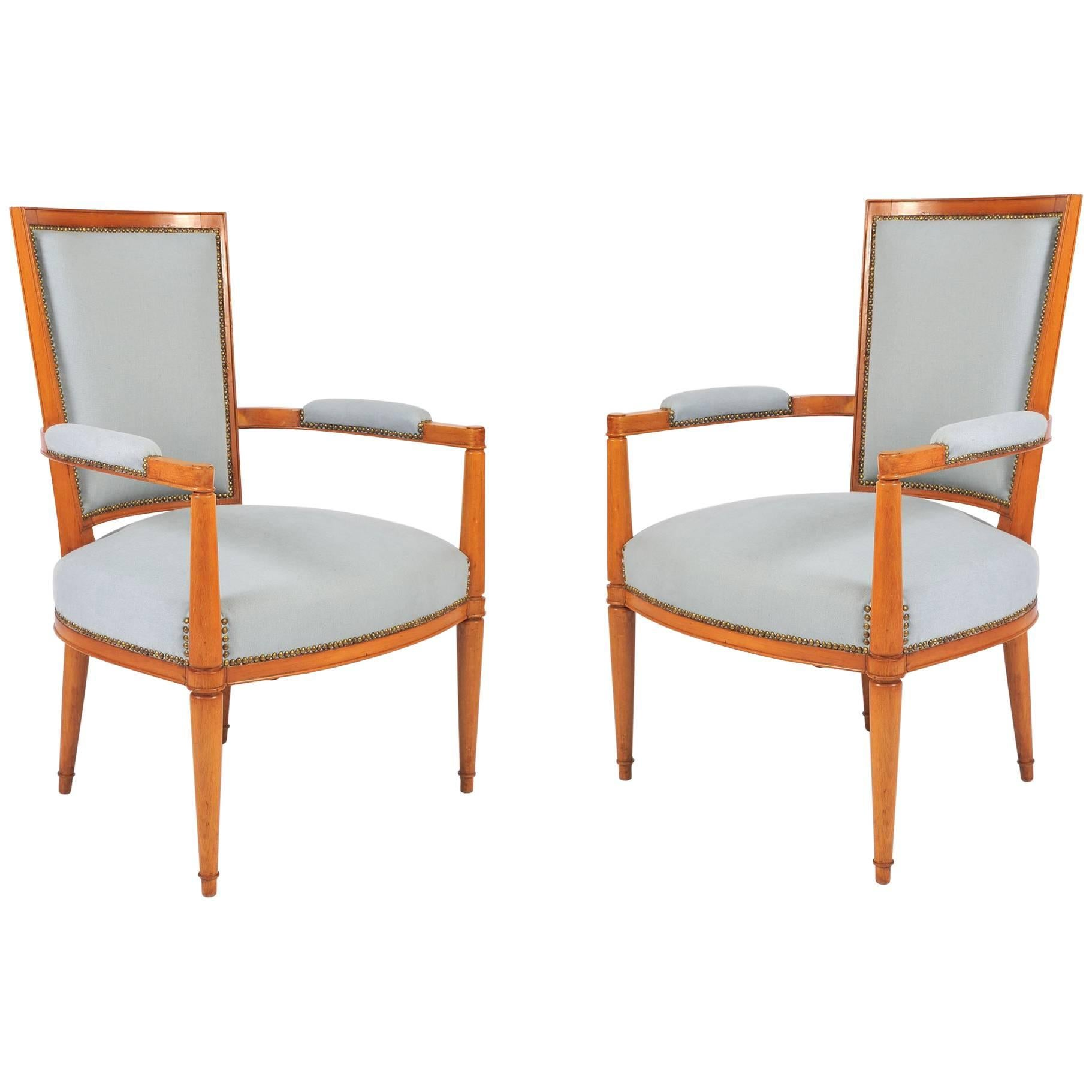 Charmant 1930s French Occasional Chairs By André Arbus For Sale