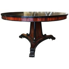 French Mahogany Tilt-Top Table with Black Painted Top from 1870s