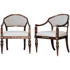 19th Century Gustavian Barrel Back Armchairs