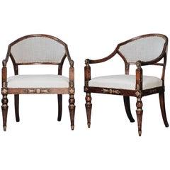 19th Century Gustavian Barrel Back Armchairs