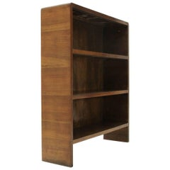 Italian Modernist Wooden Bookcase, 1940s