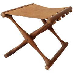 """Gold Hill"" Teak Folding Stool"