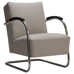 Cantilever Tubular Steel Armchair by Thonet Midcentury Bauhaus Period