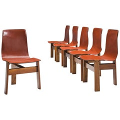 Angelo Mangiarotti for Skipper Set of Six Dining Chairs