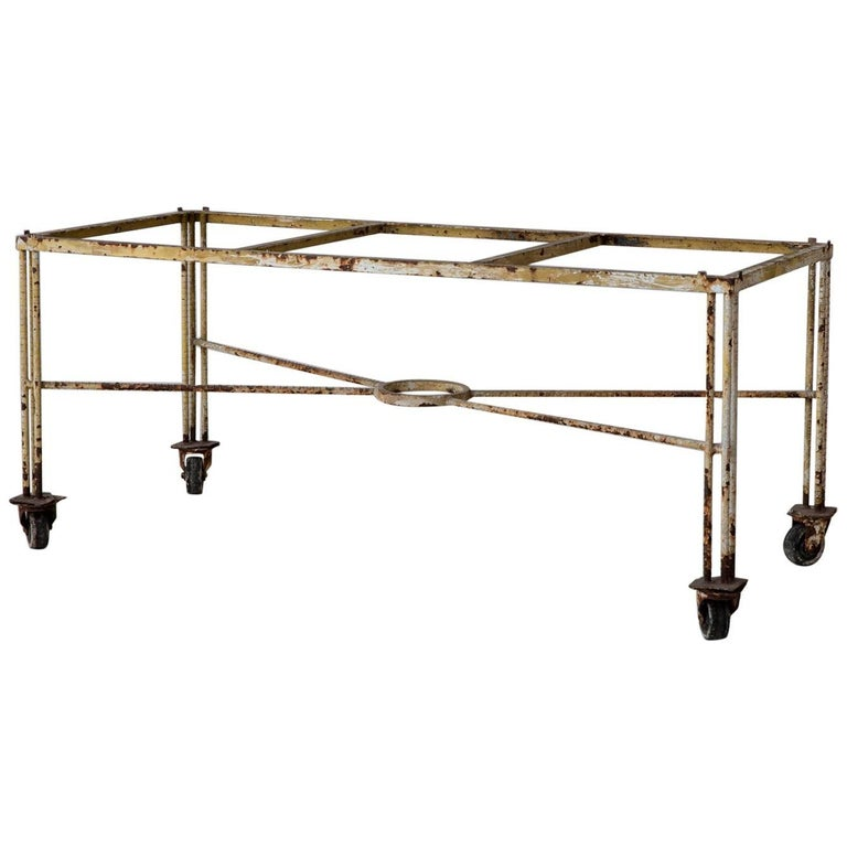 French Iron Industrial Table Base