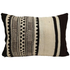 Moroccan Tribal Pillow  Vintage Kilim Cushion from Morocco