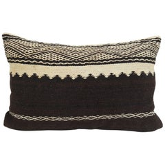 Tribal Pillow from Morocco   Vintage Moroccan Kilim Cushion