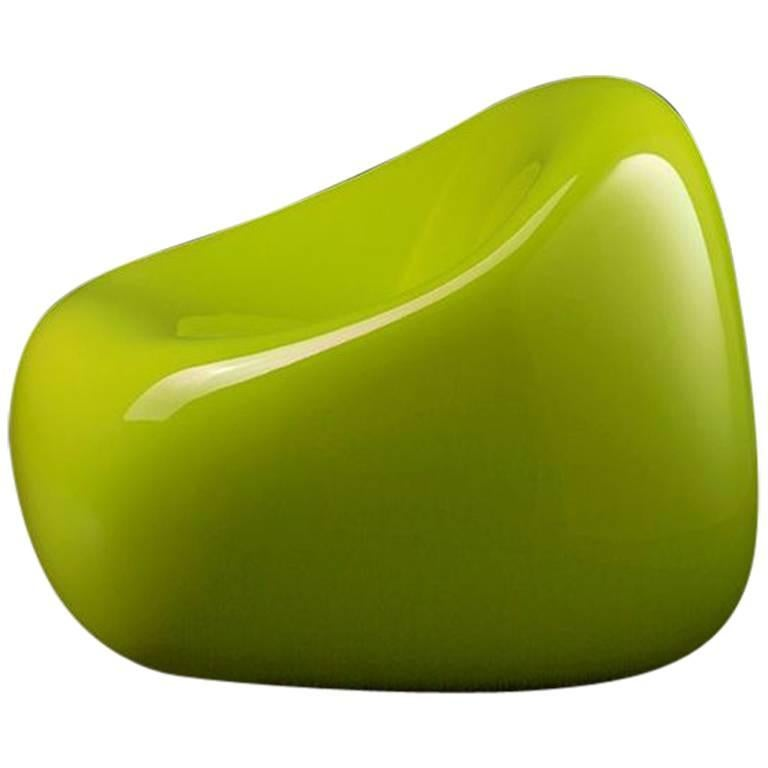 Gumball Armchair in Lacquered Green Polyethylene by Alberto Brogliato for Plust For Sale
