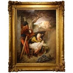 A Painting  Signed  Felix Paul Guerie (1819-1895) Oil on Canvas