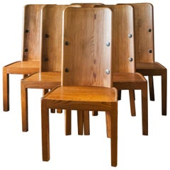 "Set of Six ""Love"" Chairs by Axel Einar Hjorth"