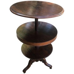 English Rosewood Adjustable Round Etagere or Shelves from 1850s