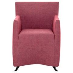Baleri Italia Caprichair Armchair in Pink Fabric by Hannes Wettstein