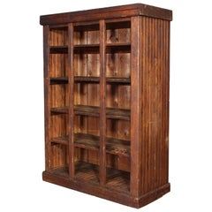 Vintage Wooden Storage Cabinet with Shelves