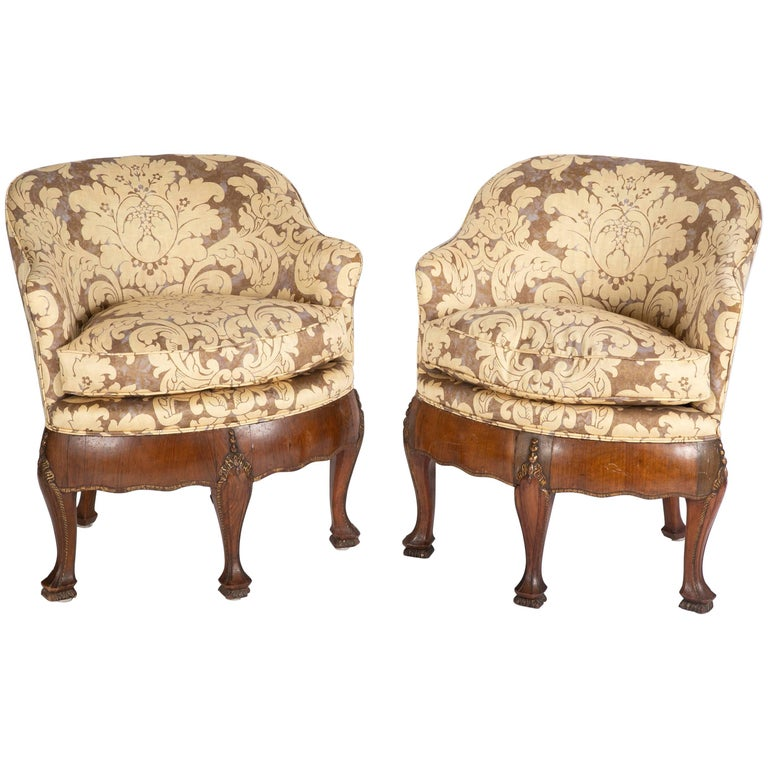 Unusual Pair of Late 19th Century Petit Armchairs For Sale