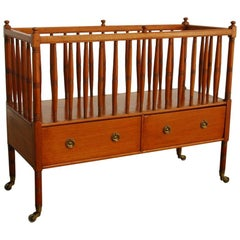 19th Century English Regency Style Mahogany Canterbury